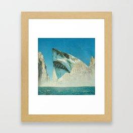 Squali a incastro Framed Art Print