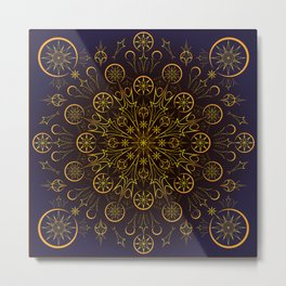 Clockwork Compass Metal Print