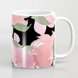 Blush Peony - Black Coffee Mug