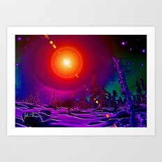 Winter heat Art Print