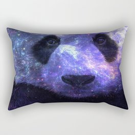Galaxy Panda Space Colorful Rectangular Pillow