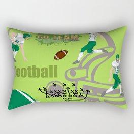 I Love Football! Sports, Football, Game Day Rectangular Pillow