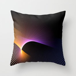 star graphic rays movement pattern Throw Pillow
