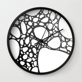 Grey Bubbles Wall Clock