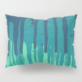 Green Grunge Color Splatter Graffiti Backstreet Wall Background Pillow Sham