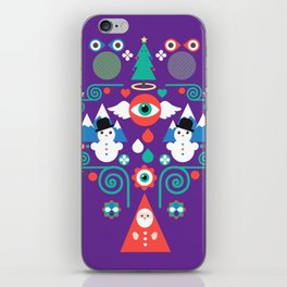 Christmas - purple pop iPhone Skin
