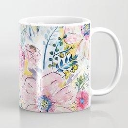 Watercolor hand paint floral design Coffee Mug