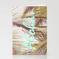 aloha Stationery Cards featuring ALOHA by The Pixel Gypsy