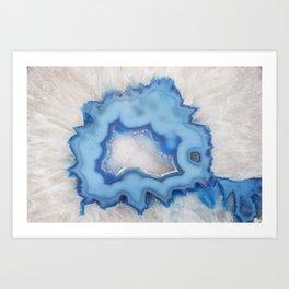 Geode Slice Closeup Art Print