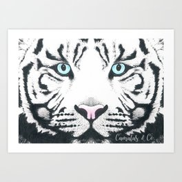 Blue Eyed Boy Art Print