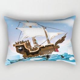 Ice Breaker Sail Ship Rectangular Pillow
