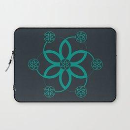 Evolution | Alien crop circle | Sacred geometry Laptop Sleeve