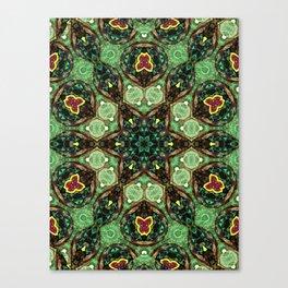 Green Star Flower Canvas Print