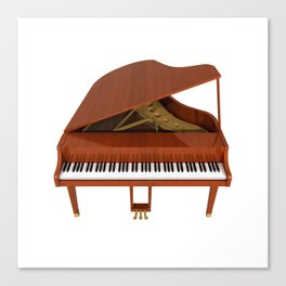 Grand Piano with Wood Finish Canvas Print