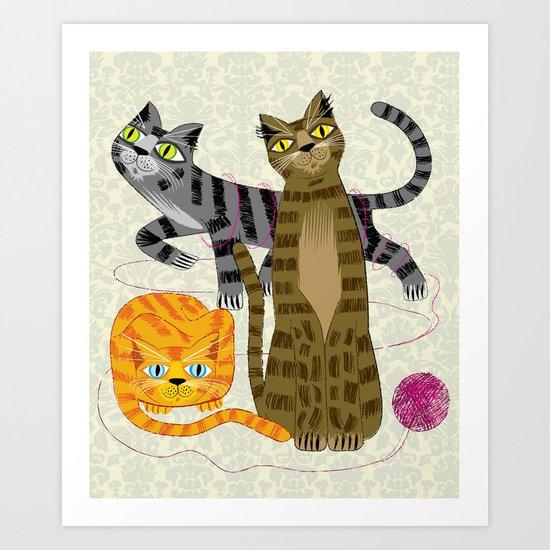 Three Cool Cats Art Print