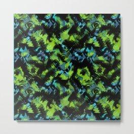 Abstract green black pattern . Metal Print