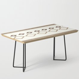 Western Pattern, Out West, Patterns, Brown, Tan, Beige, Shapes, Geometric Western Art Coffee Table