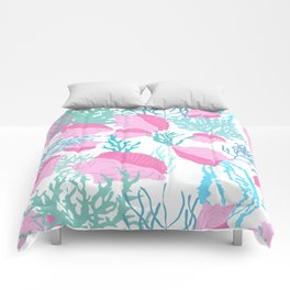 Conch n Coral Comforters