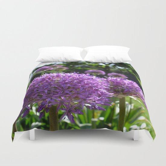 Purple Allium Giganteum Duvet Cover