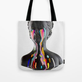 The Girl With Stars In Her Eyes (On White) Tote Bag