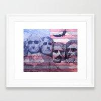 america Framed Art Prints featuring America by K. M. B. Wells