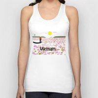 vietnam Tank Tops featuring Vietnam by Design4u Studio