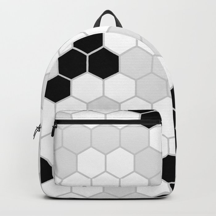 Honeycomb Pattern   Black and White Design   Minimalism Rucksack
