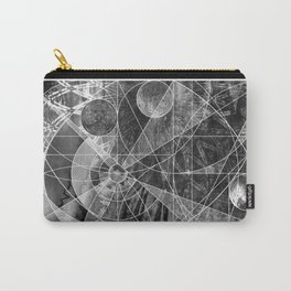 Geometric Vertical 2 Carry-All Pouch