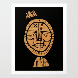 Gold X Crown Art Print