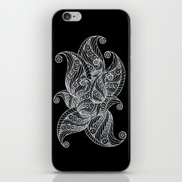 Black and white paisley iPhone Skin