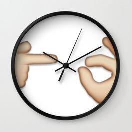 Emoji: Man Vs Pig Wall Clock