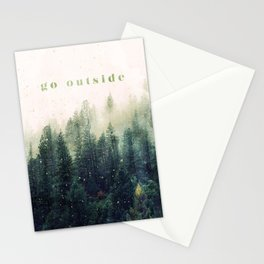 go outside Stationery Cards