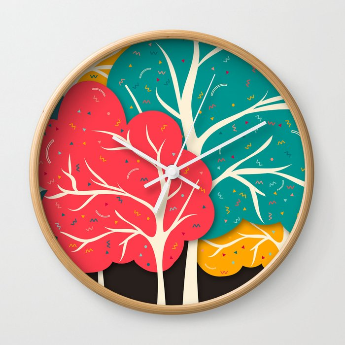 Happy Forest Wall Clock