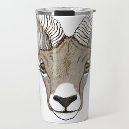Ram Head in Color Travel Mug