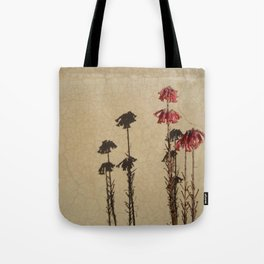 Shadows and flowers Tote Bag