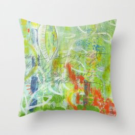 abstract 4 growth and prayer Throw Pillow