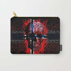Skull circuit (norway-flag) Carry-All Pouch