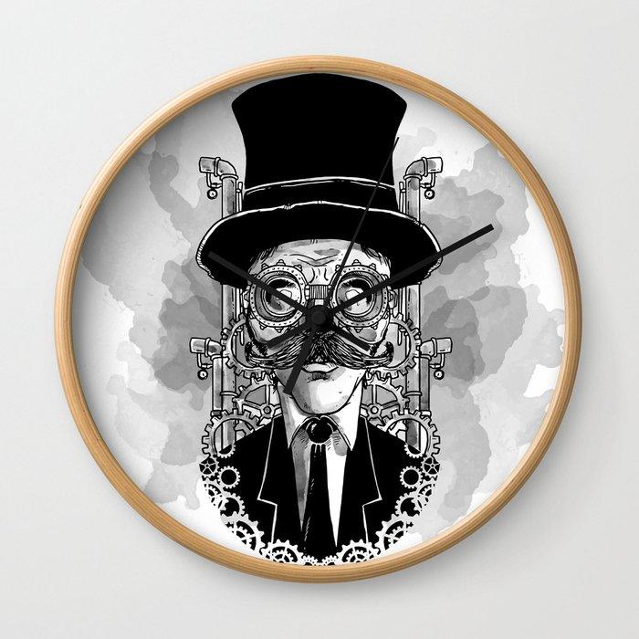 Steampunk Man Wall Clock
