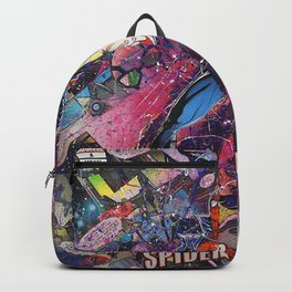 Spider Man - Spidergeddon - Punk Rock Comic Book Superhero Wall Art Backpack