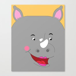 Rhino Female in Love Looking to the Right Canvas Print