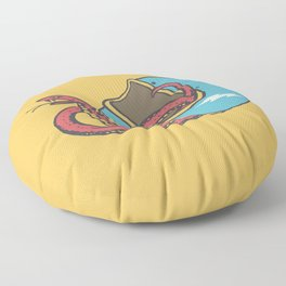 vipera color Floor Pillow