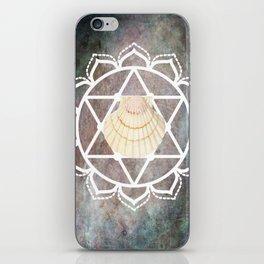 Shell Chakra Purple iPhone Skin