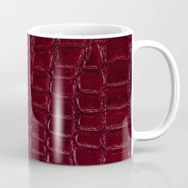 Maroon snake leather cloth imitation Coffee Mug
