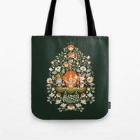 alice wonderland Tote Bags featuring Wonderland by rosekipik