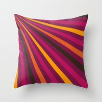1d Throw Pillows featuring Rays 1d by Patterns of Life