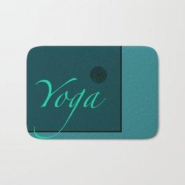Yoga Blue Bath Mat
