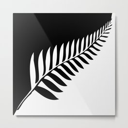 Silver Fern of New Zealand Metal Print