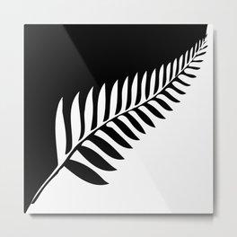 Silver Fern of New Zealand Metal Print