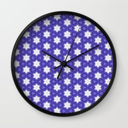 Purple Passion Pattern 9 Wall Clock