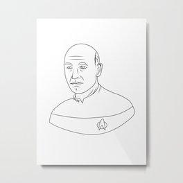Captain Jean-Luc Picard Metal Print